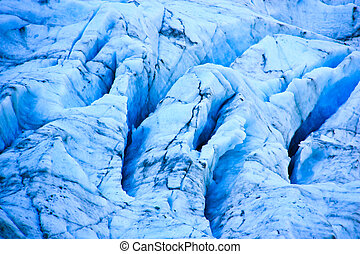 Fox glacier, New Zealand. - Close-up view of Fox glacier on...