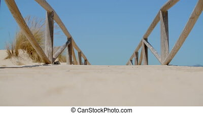 Empty Beach Bridge