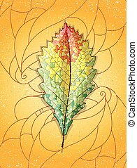 Autumn colorful leaf. Illustration 10 version