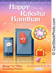 Decorative rakhi for Raksha Bandhan sale promotion banner -...