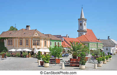 Rust,Lake Neusiedler See,Austria - Market Place in Wine...