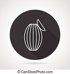 Ambu bag black round vector icon - Flat round black vector...