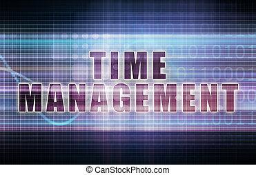 Time Management on a Tech Business Chart Art
