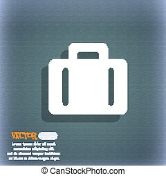 suitcase icon symbol on the blue-green abstract background...