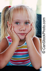 Portrait of 5 years old girl