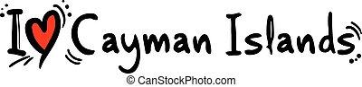 Cayman Islands love - Creative design of Cayman Islands love