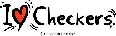 Checkers love - Creative design of Checkers love