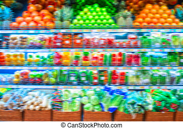 at store - Blurred pronounced background of store