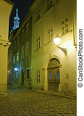 historical Bratislava - historical alley in Old Town of...