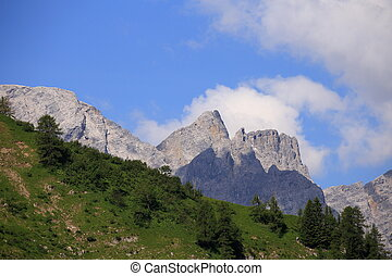 mountain peaks - some mountain peaks in the austrian alps