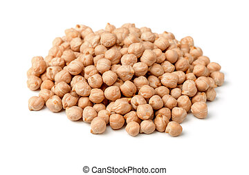 Chickpea - Heap of chickpea isolated on white