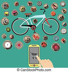 Untitled-2 - element of bicycle color Icons and Order by...