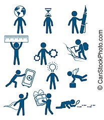 People in business set - Vector illustration of a people in...