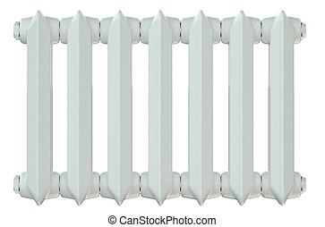 cast iron heating radiator isolated on white background