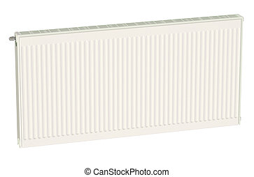 Eco heating radiator isolated on white background