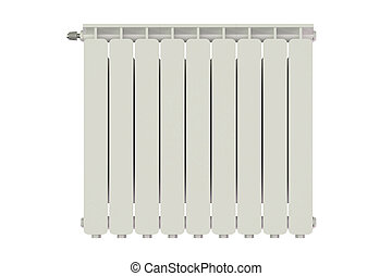 heating radiator isolated on white background