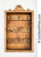 Vintage wooden hanging key