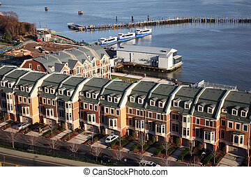 Twin condos - Aerial view on Twin condos overlooking marina