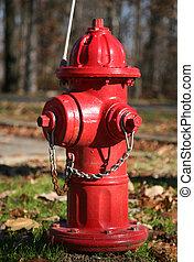 vermelho, fogo, hidrante