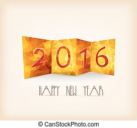 Happy New Year 2016 Abstract geometrical backgroun
