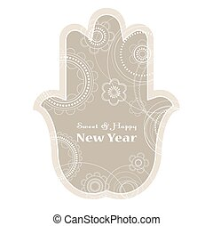 Jewish holiday background Rosh Hashanah holiday card -...