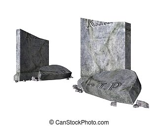 Tombstone - Rendered illustration of a broken graveyard...