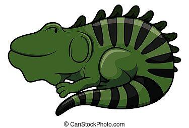 Iguana cartoon illustration isolated white