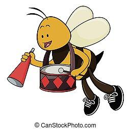 bee cartoon illustration isolated