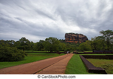 Sigiriya - Scenic view to world famous landmark of Sri Lanka...