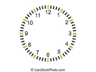 Abstract minimal clock on white wall. Vector business...