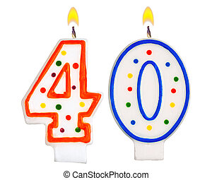 Birthday candles number forty - Birthday candles number...