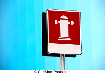 Outdoor fire hydrant street sign for firefighting - Outdoor...
