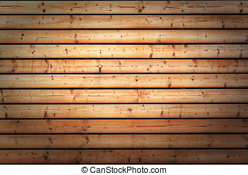 Background texture of knotty wooden boards used as cladding...