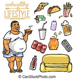 Unhealthy Lifestyle - Man