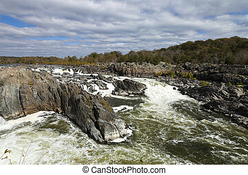 Great Falls Park, Virginia, USA - Great Falls Park on...