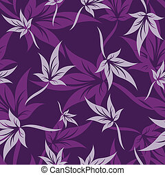 purple haze - Seamless leaf background