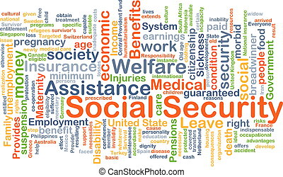 Social security background concept