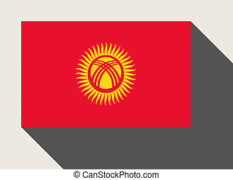 Kyrgyzstan flag in flat web design style