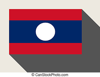 Laos flag in flat web design style