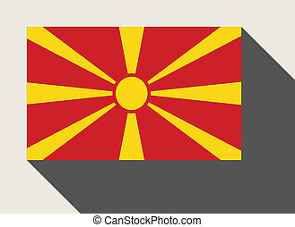 Macedonia flag in flat web design style