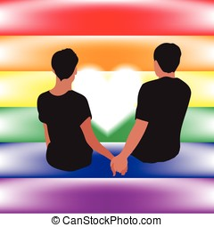 gay love relationship on their flag