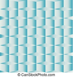 Geometric square box blue background