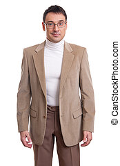 casual businessman - smiling casual businessman wearing...