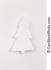 paper christmas tree on white background