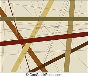Criss Cross - An earth tone background with coloured earth...