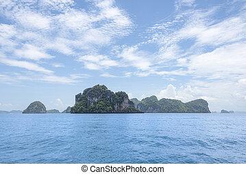 nature - Hong Islands, Krabi, Thailand Viewed from a ship at...