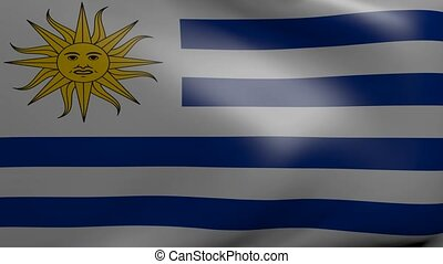 uruguay strong wind flag