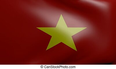 vietnam strong wind flag
