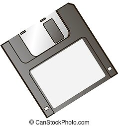diskette - floppy image on a white background