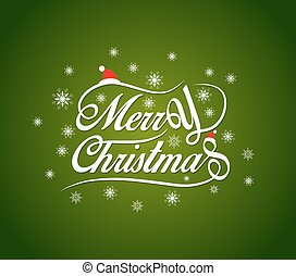 Merry Christmas lettering design background